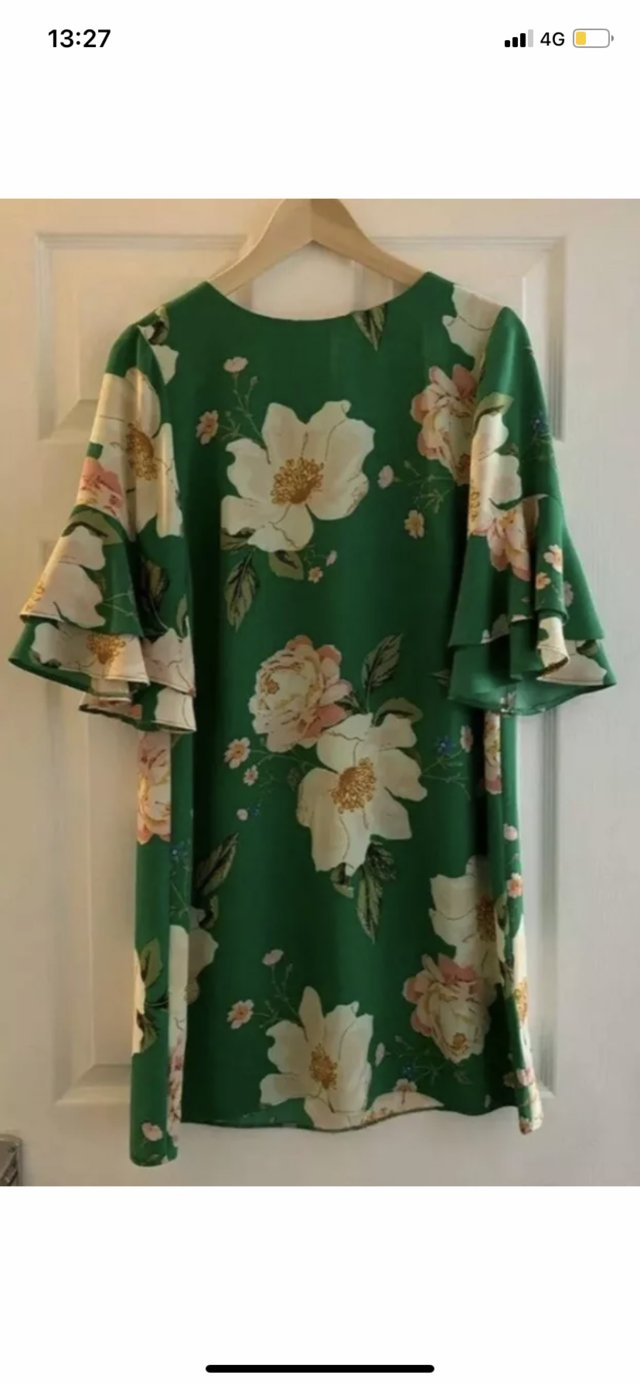 Image 3 of Brand New Green Floral Dress Size 12