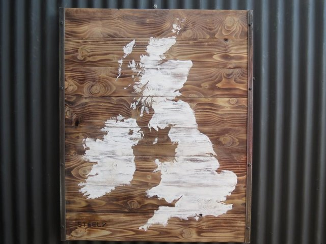 Preview of the first image of British Isles Wall Art Map.