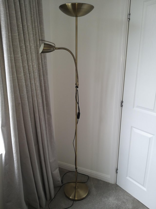 Preview of the first image of Metal standard lamp with reading spot light..