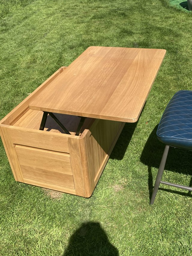 Image 2 of Solid Oak coffee table