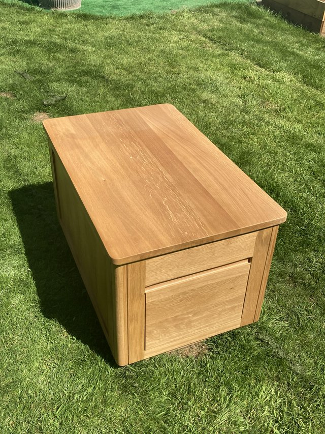 Image 3 of Solid Oak coffee table