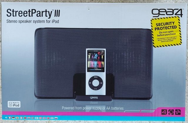 Image 2 of Gear4 Street Party III Stereo Speaker System for iPod