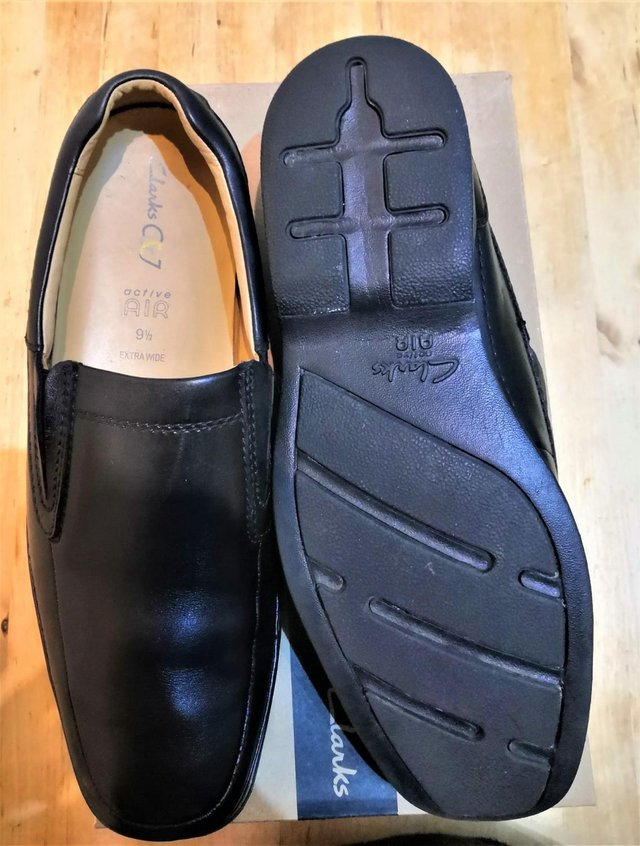Image 2 of Clarkes shoes size 10 extra wide