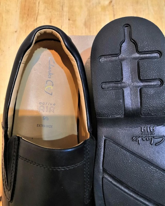 Image 3 of Clarkes shoes size 10 extra wide