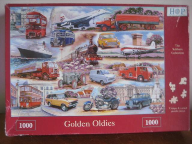Preview of the first image of 1000 PIECE JIGSAW PUZZLE - GOLDEN OLDIES - COMPLETE.