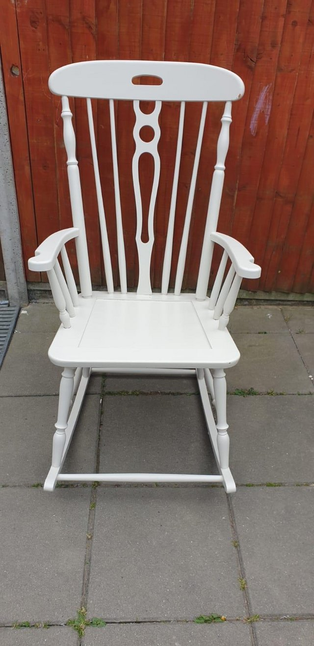 Image 5 of Vintage ercol type Rocking armchair