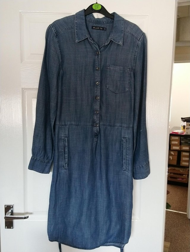 Preview of the first image of Denim dress from Monsoon size 10.