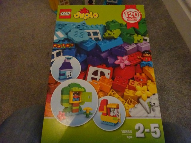 Preview of the first image of Boxed Duplo 120 piece House and Mini Figure Set 10854.