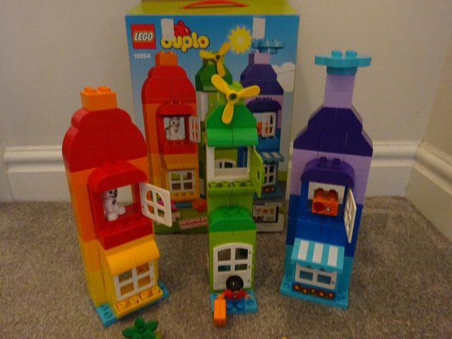 Image 3 of Boxed Duplo 120 piece House and Mini Figure Set 10854