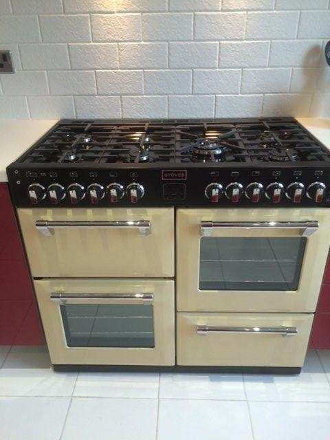 Preview of the first image of Stoves Cream 100 cm Dual Fuel Range Cooker.