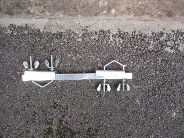 Preview of the first image of Jockey Wheel aerial or washing line pole clamp.
