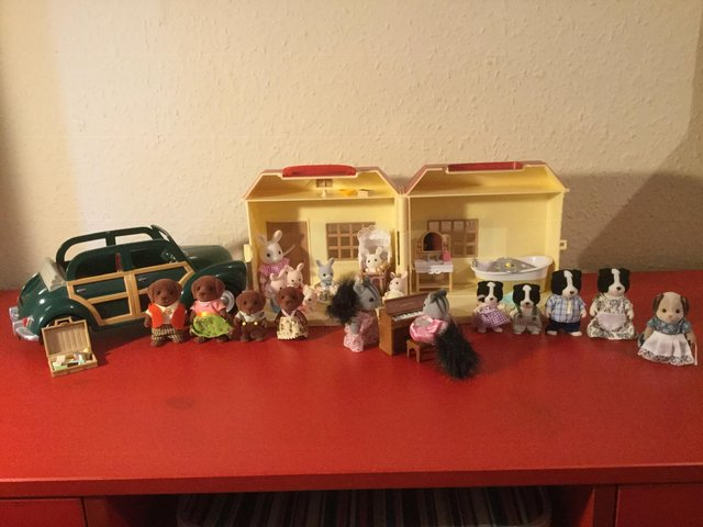 Preview of the first image of Sylvanian families bundle. Hardly used, as new..