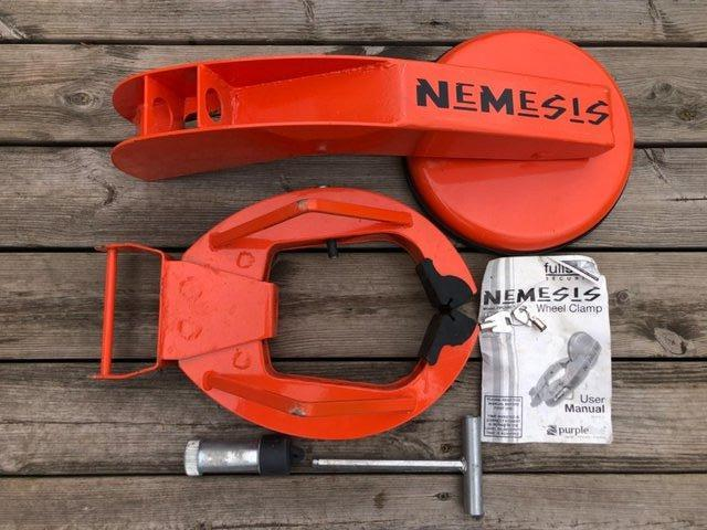 Preview of the first image of Nemesis Fullstop Heavy Duty Wheel Clamp.