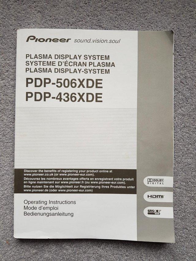 Image 2 of Original Pioneer Plasma Screen System Manual