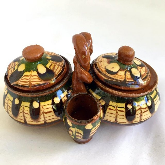 Preview of the first image of Vintage TerraCotta Salt Pepper Shaker.