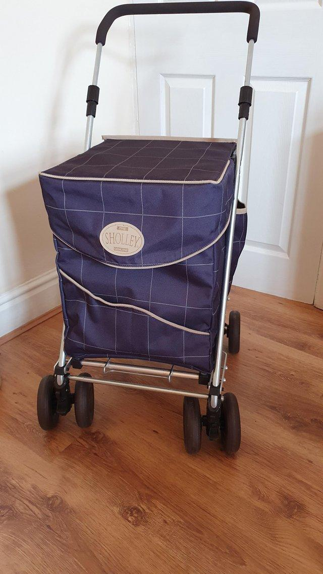 Preview of the first image of Sholley Trolley, shopping trolley and mobility aid.