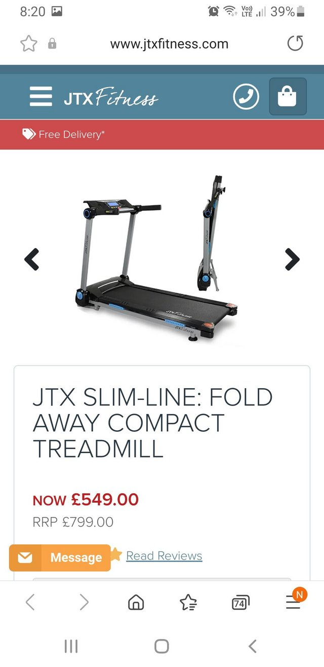 Preview of the first image of Runningmachinetreadmill.