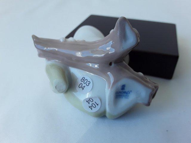 Image 2 of NEW RARE LLADRO 8037 LUCKY FROG (TREE FROG) WITH STAND
