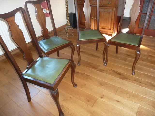 Image 3 of Queen Anne style dining chairs