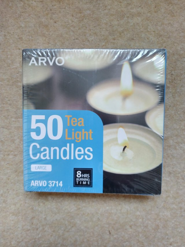 Preview of the first image of Box of 50 tea lights ..ARVO 3714.