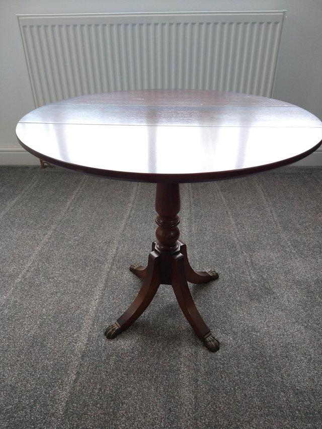Image 2 of SMALL WOODEN FOLDING TABLE VERY GOOD QUALITY IDEAL FOR LOUNG