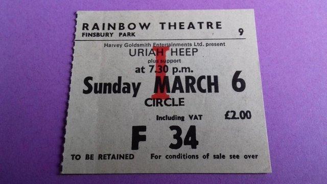 Image 3 of 1977 Uriah Heep 'Firefly' UK Tour Programme +concert stub.
