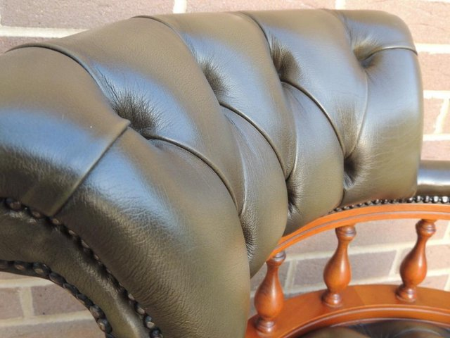 Image 10 of Smoky Green Captains Chair (UK Delivery)
