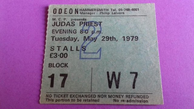Image 2 of 1979 Judas Priest World Tour Programme + concert stub.
