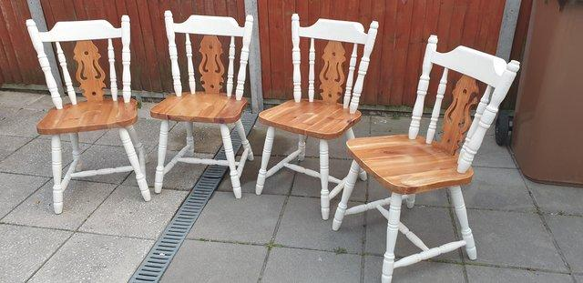 Image 6 of Farmhouse style dining table and chairs