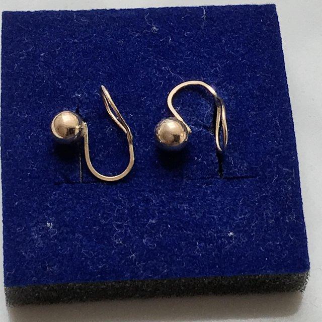 Image 2 of Andraslide 1960-1970s 375 9ct gold ball earrings. Rare!