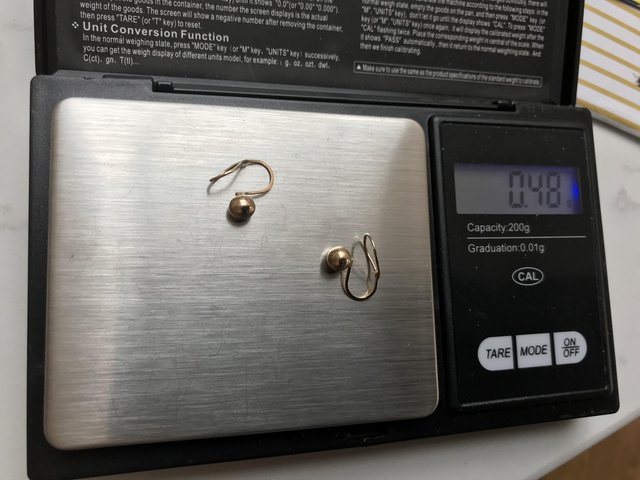 Image 3 of Andraslide 1960-1970s 375 9ct gold ball earrings. Rare!
