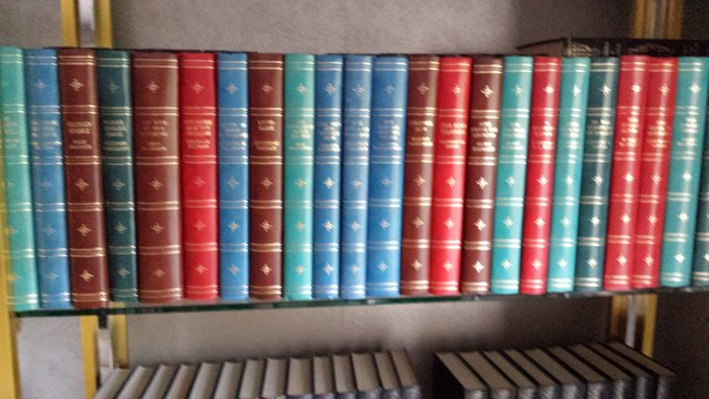 Preview of the first image of 70 Vintage leather bound books. Will split sets..