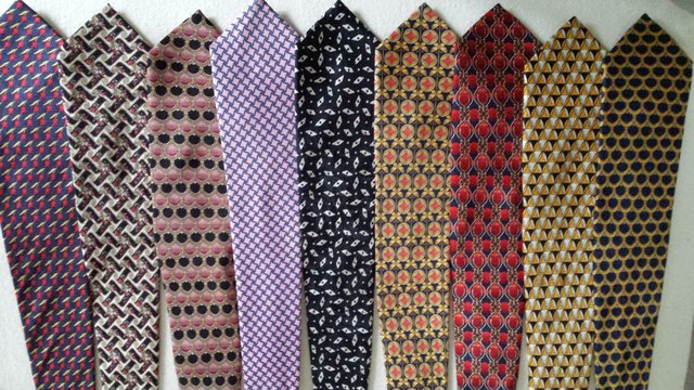 Preview of the first image of Men's new pure silk ties. 25 assorted.
