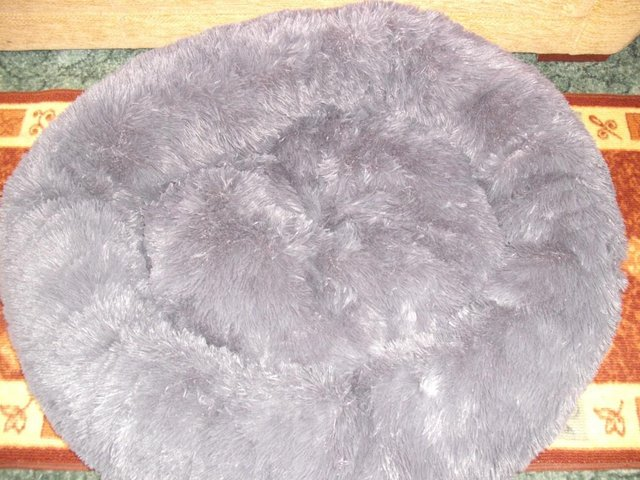 Image 3 of High Quality, Soft, Grey Dog Bed (new and unused)