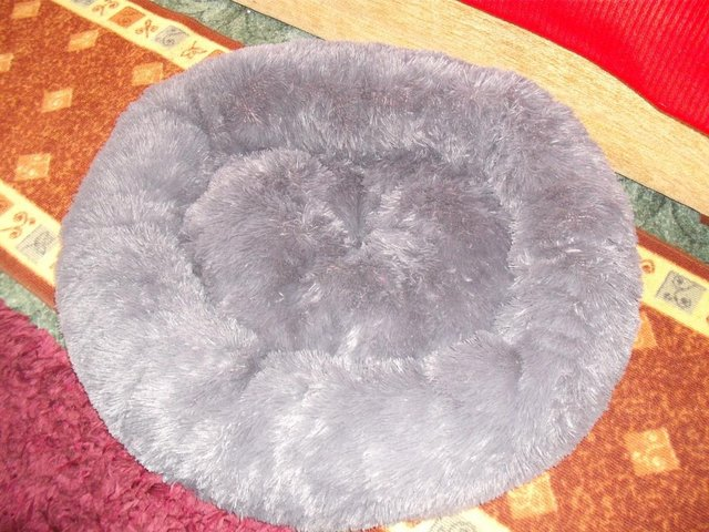 Preview of the first image of High Quality, Soft, Grey Dog Bed (new and unused).