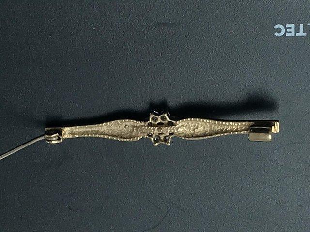 Image 3 of Bar brooch, full hallmarks to back, vgc