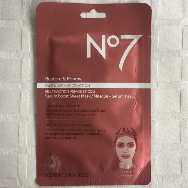 Preview of the first image of NEW No 7 (Boots) Restore & Renew Face Mask..