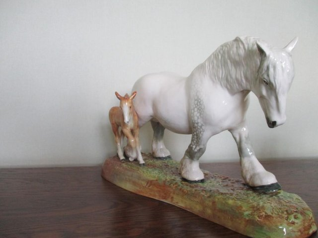 Image 2 of Stunning! Two Royal Doulton Figurines, Mare and Foal