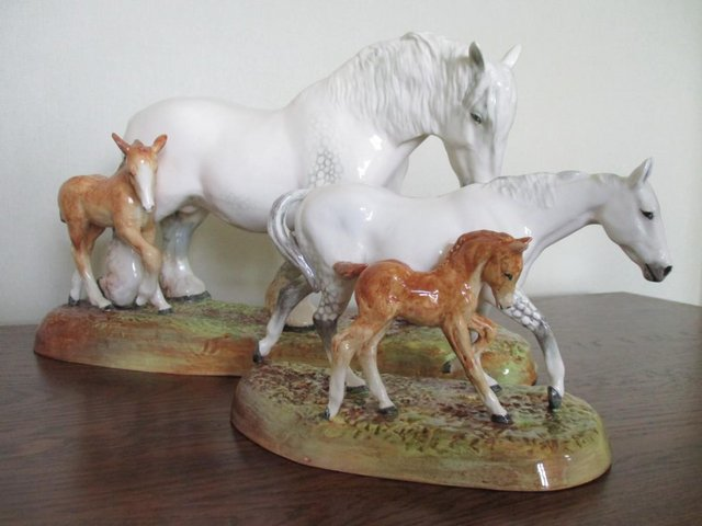 Preview of the first image of Stunning! Two Royal Doulton Figurines, Mare and Foal.