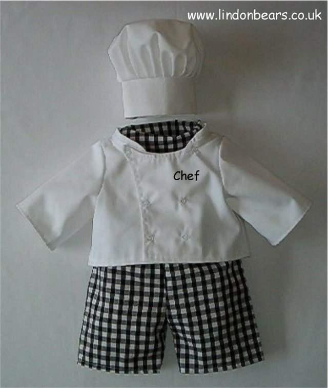 Preview of the first image of LINDON BEARSCHEF 4 PIECE OUTFIT-FITS BEARS 16 INCH / 40cm.