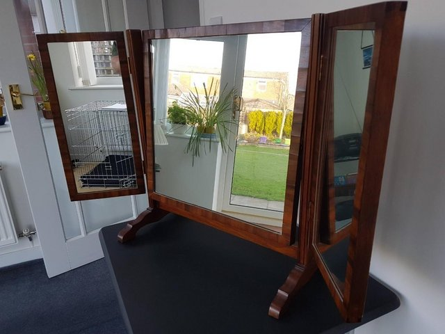 Image 4 of Victorian / Edwardian Wood Framed Self Standing Mirror With