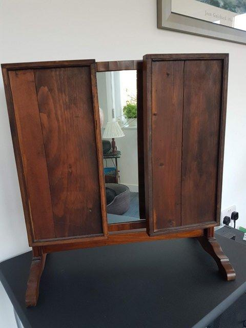 Image 6 of Victorian / Edwardian Wood Framed Self Standing Mirror With
