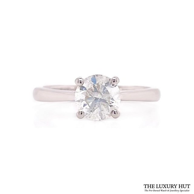 Preview of the first image of PLATINUM 1.00CT DIAMOND SOLITAIRE ENGAGEMENT RING.