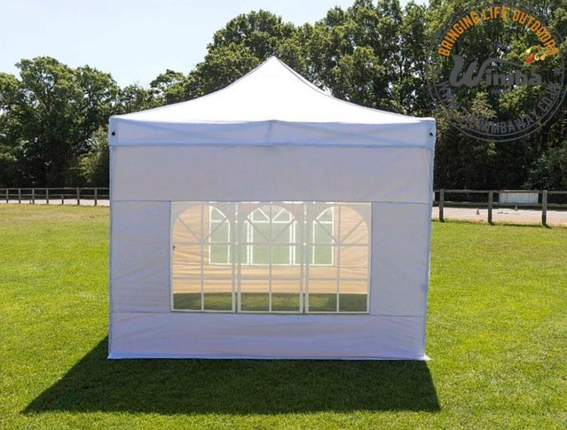 Image 4 of New HEAVY DUTY 3x3m Popup Gazebo Marquee Canopy – ALL sides