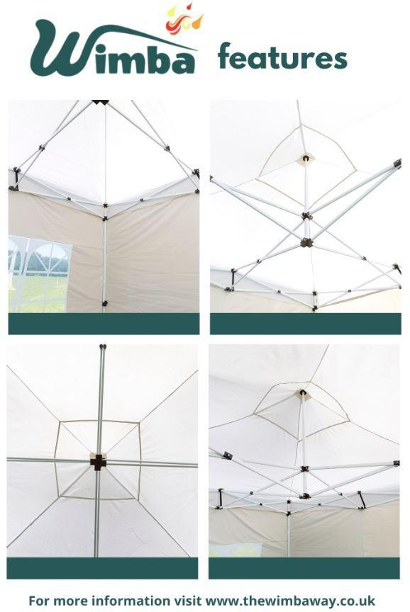 Image 5 of New HEAVY DUTY 3x3m Popup Gazebo Marquee Canopy – ALL sides