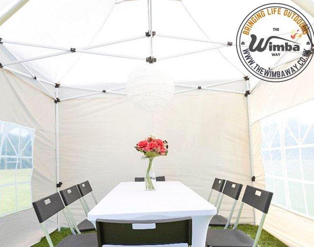 Image 7 of New HEAVY DUTY 3x3m Popup Gazebo Marquee Canopy – ALL sides