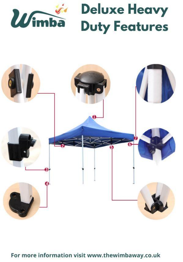 Image 9 of New HEAVY DUTY 3x3m Popup Gazebo Marquee Canopy – ALL sides