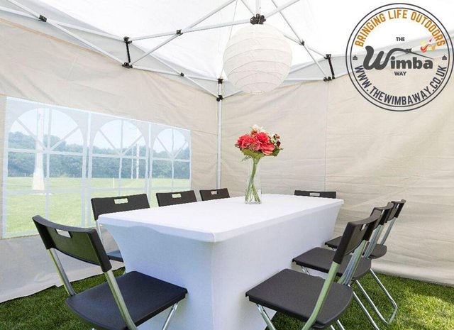 Image 12 of New HEAVY DUTY 3x3m Popup Gazebo Marquee Canopy – ALL sides
