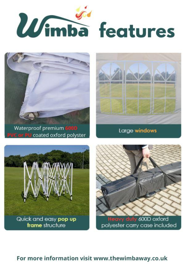 Image 15 of New HEAVY DUTY 3x3m Popup Gazebo Marquee Canopy – ALL sides