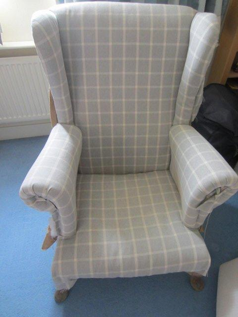 Preview of the first image of Upholstery project - high backed armchair.